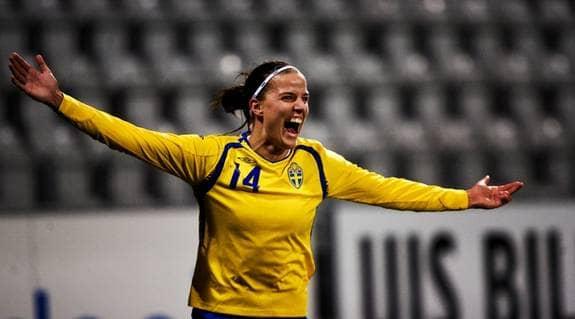 Jessica Langren spelar till vardags i Linköpings FC. Foto: Andreas Hillergren