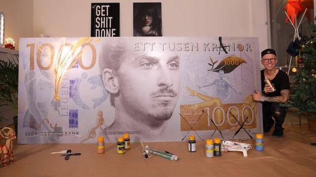 """Vill se Zlatan pryda tusenlappen"""