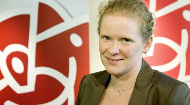 """Socialdemokraternas nya toppnamn Karin Wanngård fick kritik för sitt uttalande om """"skitjobb"""". Foto: Gunnar Lundmark / Svd / Scanpix"""