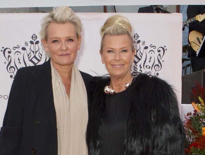 Eva Dahlgren med frun Efva Attling. Foto: Granlund Pictures