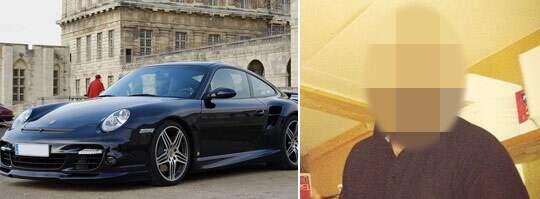 LYX-SPORTBIL. 26-åringen köpte bilar för över 100 000-tals kronor, bland annat en Porsche 997 turbo, bilen på bilden är inte 26-åringens. 26-åringen som sköts i huvudet saknade inkomster och blev skönstaxerad. Han krävs på 350 000 kronor i obetalda skatter. Foto: Privat