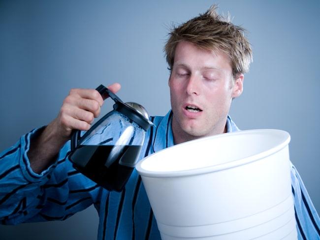 ont i huvudet av kaffe