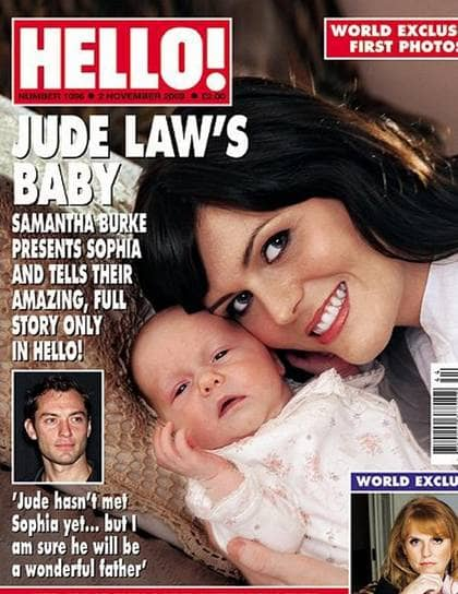 Jude law fick en dotter