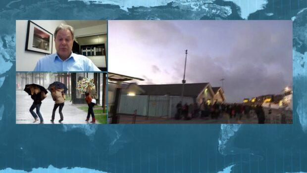 Stormen Knud når svensk mark ikväll