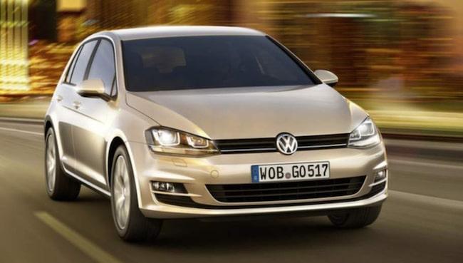 Nuvarande Volkswagen Golf.