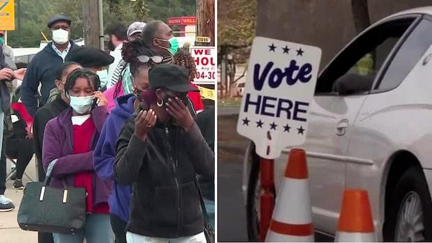 22 miljoner amerikaner har förtidsröstat