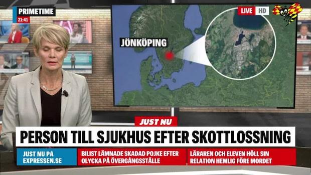 Person till sjukhus efter skottlossning i Jönköping