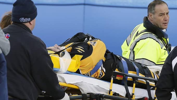 Denna Laing efter olyckan Foto: Michael Dwyer