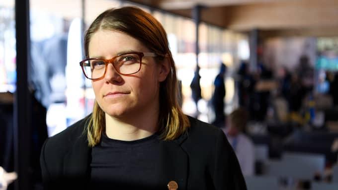 Ida Ingemarsdotter under en presskonferens inför OS. Foto: CARL SANDIN / BILDBYRÅN