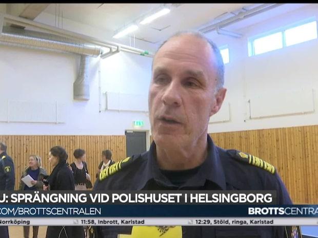 Sprängning vid polishuset i Helsingborg