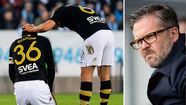 """Fiasko för AIK: """"Tränaren Rikard Norling har stor del"""""""