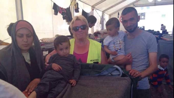 Eva Andersson, 54, arbetar med båtflyktingar på ön Lesbos i Grekland. Foto: Privat