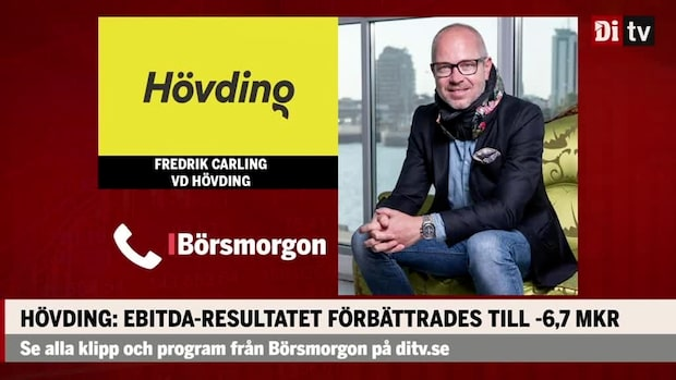 """Fredrik Carling vd Hövding: """"Det är en stabil tillväxt"""""""