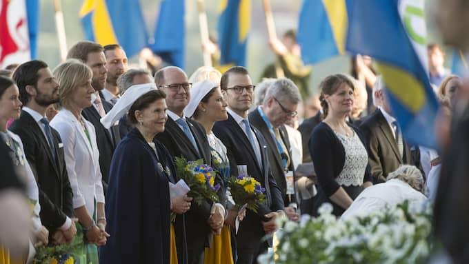 Nationaldagsfirande på Skansen med kungafamiljen närvarande. Ambitionen att uppvärdera den sjätte juni visar på det knäppa med svensk nationalism. Foto: MIKAEL SJÖBERG