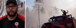 Kristoffer, 27, släcker med en brandbil från 1977