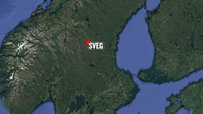 Bussen välte mellan Sveg och Fågelsjö. Foto: Google Earth/Expressen