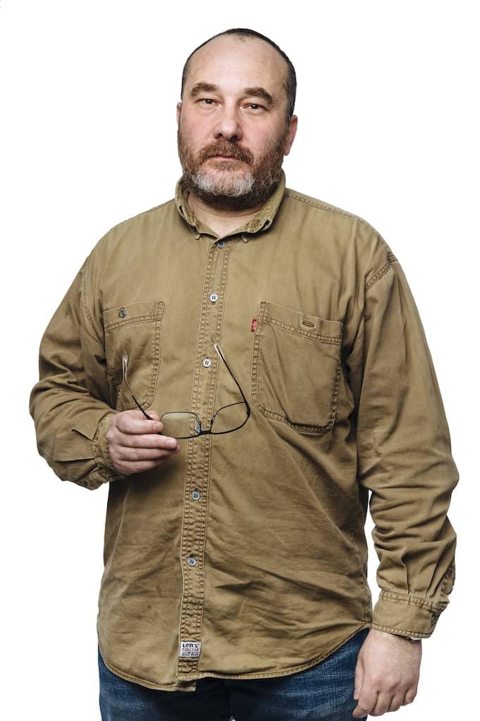 Dmitri Plax är dramatiker och radioproducent med bakgrund i Belarus. Foto: MIKAEL SJÖBERG