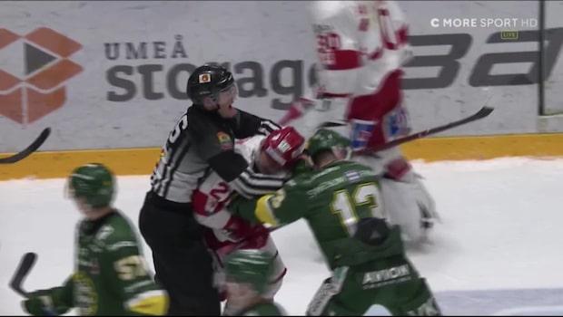 Stort slagsmål mellan Björklöven och Timrå