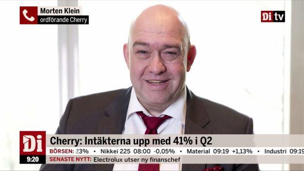 Cherry: Intäkterna upp 41% i Q2