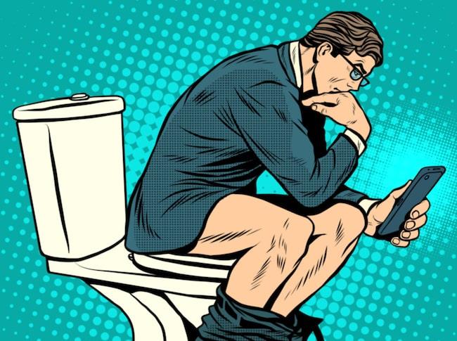 sitta länge på toaletten hemorrojder