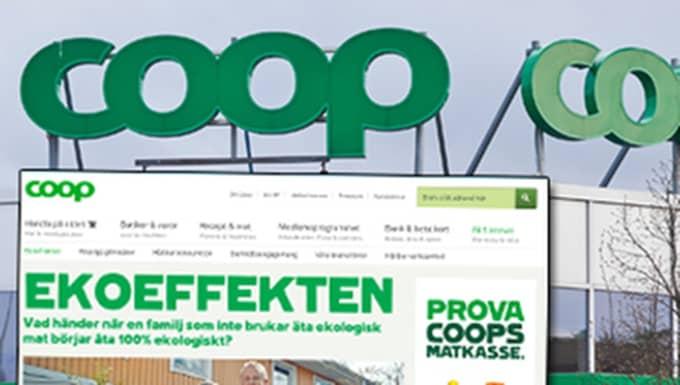 """""""Ekoeffekten"""" är en del av Coops satsning och marknadsföring av ekologiska produkter. Kampanjen får nu kritik för att vara oetisk och vilseledande."""