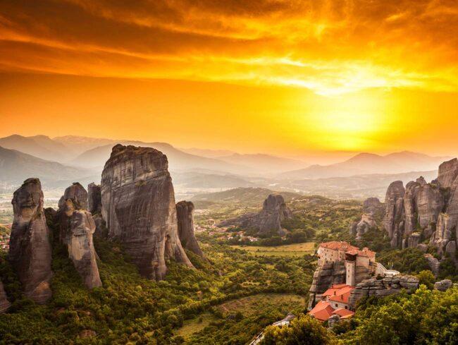 Klostren i Meteora, Grekland.