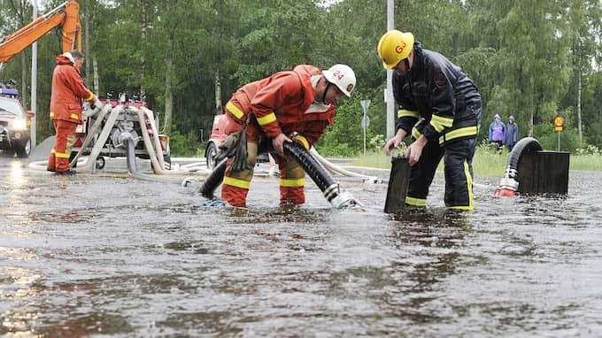 Saúls hem hotas av översvämning när glaciären smälter. Bilden är från ett annat tillfälle. Foto: MIKAEL FRITZON / SCANPIX SWEDEN
