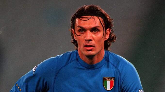 Paolo Maldini som lagkapten för Italien. Foto: DAVE JOYNER / GRATISBILD IBL POPPERFOTO PPP