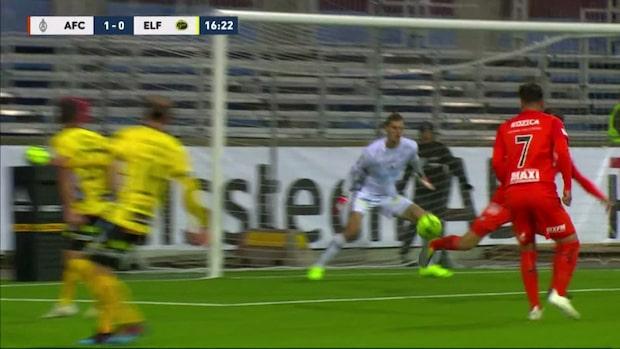 Nalic klackar in 1-0 för AFC Eskilstuna