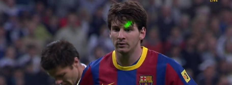 Laserattacken mot leo messi