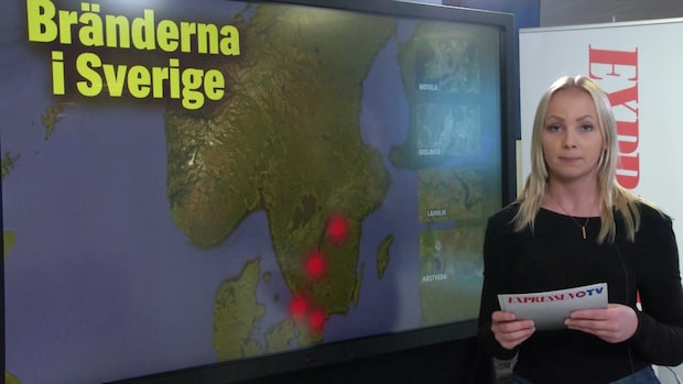 Bränder rasar runtom i Sverige