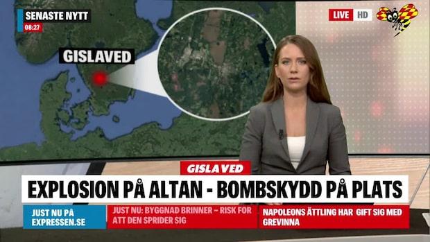 Explosion på altan – bombskyddet till platsen