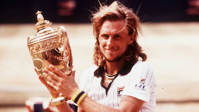 Björn Borg med Wimbledon-bucklan. Foto: JACOB FORSELL FORSELL