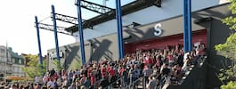 Olympia utryms inför fotbollsmatch