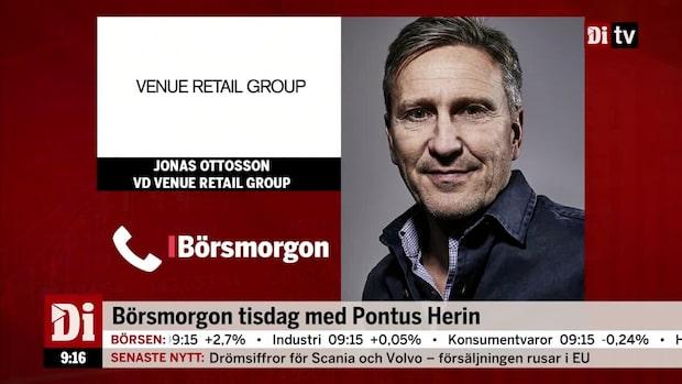 "Rapporterande Venue Retail Group: ""Inte nöjda med resultatet"""
