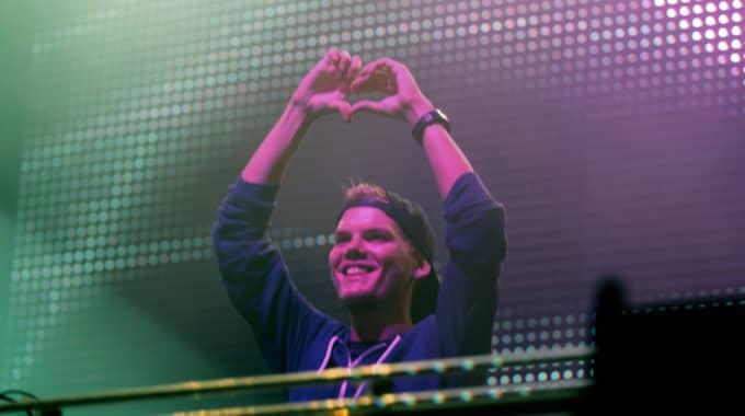 Avicii gör en av sina sista spelningar någonsin på fredag. Foto: Ronny Johannesson / KVP