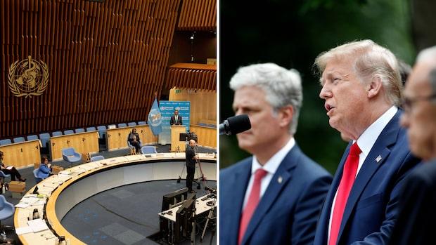 Donald Trump bryter USA:s samarbete med WHO