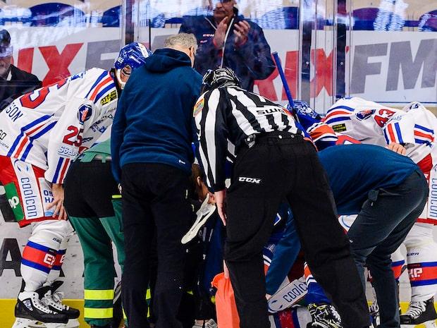 Otäcka bilder på Nilsson - blir liggande på isen länge