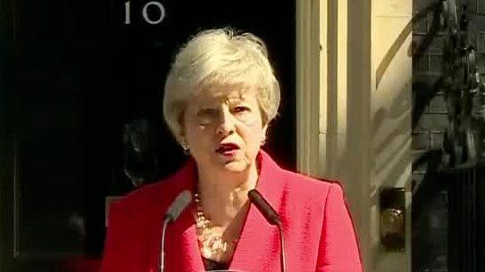 Theresa May avgår som premiärminister