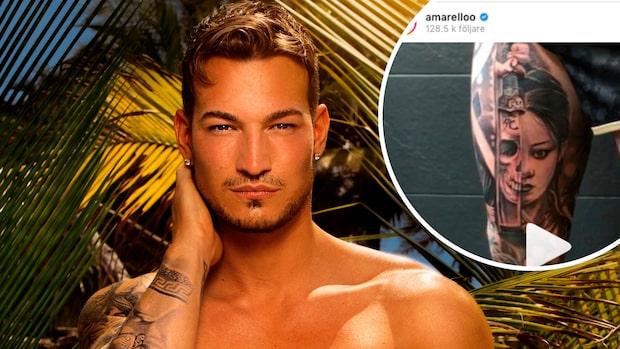 """Marcelo Peña visar upp nya tatueringen: """"Sjuk"""""""