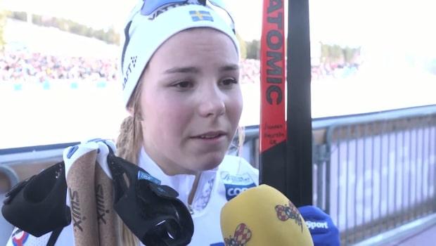 """Johanna Hagström: """"Faller ju hela tiden"""""""