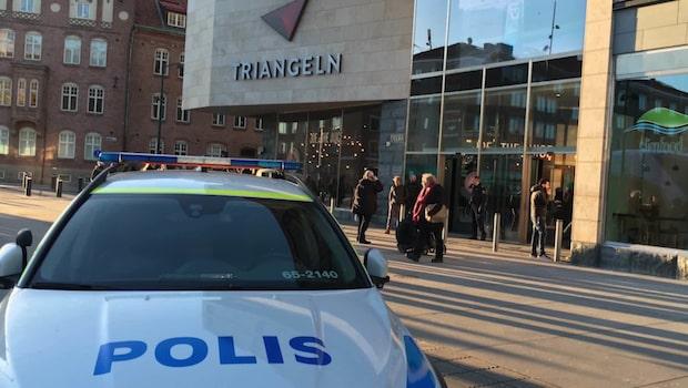Stor polisinsats vid köpcentrum i Malmö