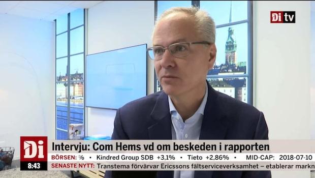"""Com Hems vd om TV4-affären: """"Känns som att vi är tillbaka på 1980-talet"""""""