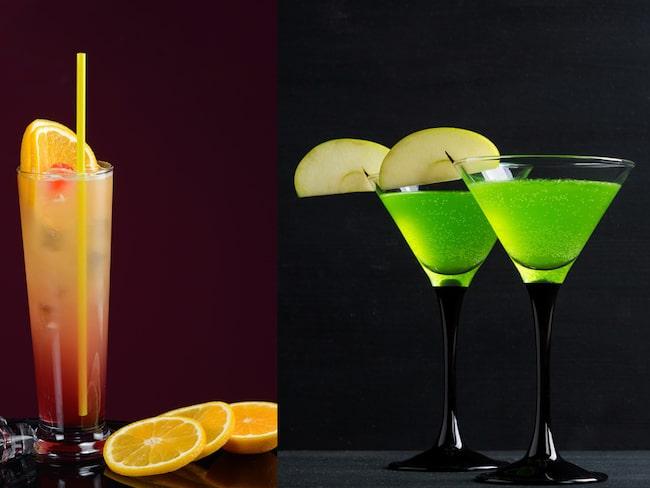 Sex on the Beach och Appletini är två drinkar som enligt undersökningen får bartenders att himla med ögonen.