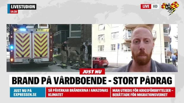 Brand på vårdboende i Malmö