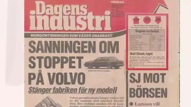 Arkivet: Volvo permitterade för att göra lyxbil