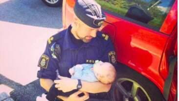 Madeleine Linnskogs dotter Tilde fick oförglömlig tröst av polismannen Anders Nordlund.