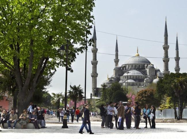 Den osmanske sultanen Ahmed I lät bygga den Blå moskén.