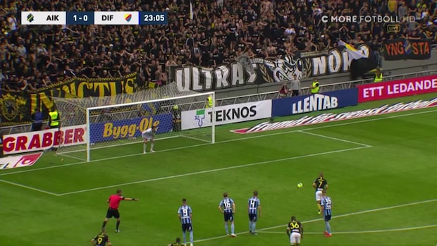 AIK tar ledningen på straff i derbyt