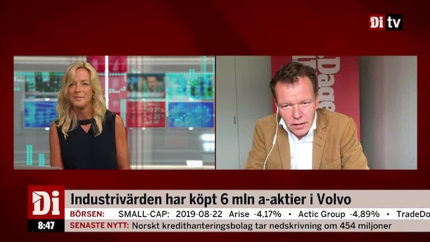 Industrivärden har köpt 6 miljoner a-aktier i Volvo
